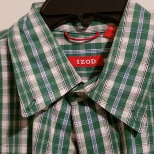 Izod Shirts - MEN'S PLAID IZOD SHIRT